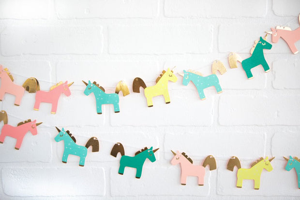 Bright Unicorn Party Banner