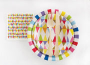 rainbow stripe plate