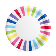 rainbow paper plate