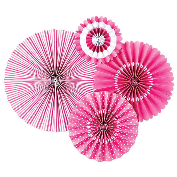 Hot Pink Party Fans