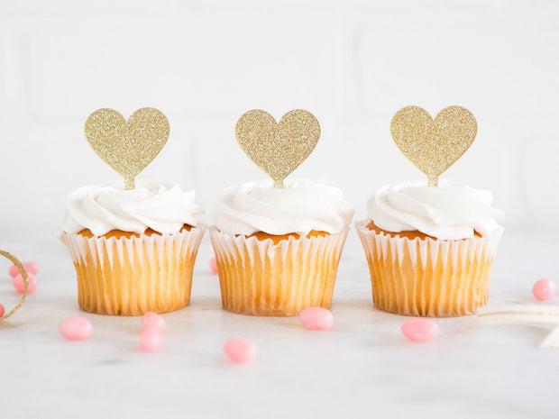 Princess Heart Cupcake Toppers