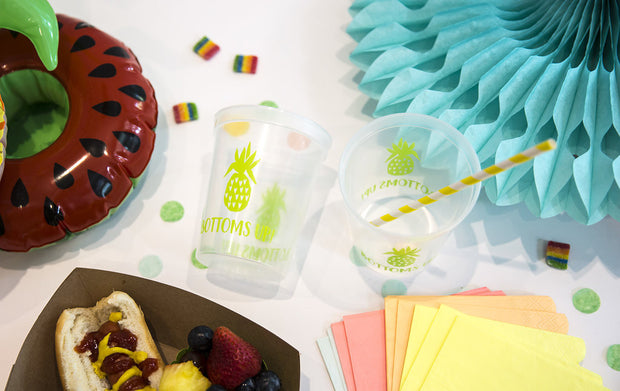 Bottoms Up! Pineapple Stadium Cups