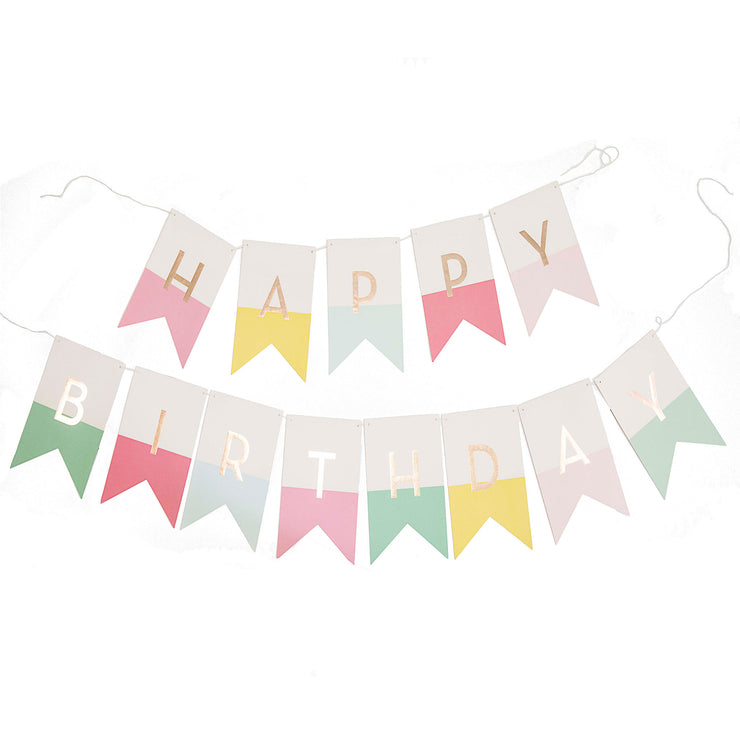 Signature Girl's Birthday Banner