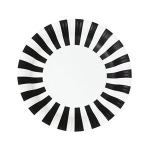 Black Stripe Large Plates