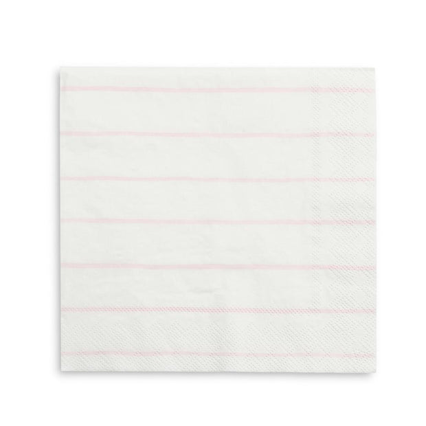 Blush Frenchie Striped Dinner Napkins