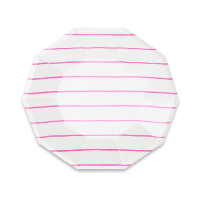 Frenchie Cerise Stripe Large Plates