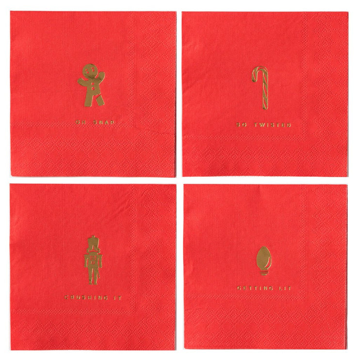 Holiday Cocktail Napkin