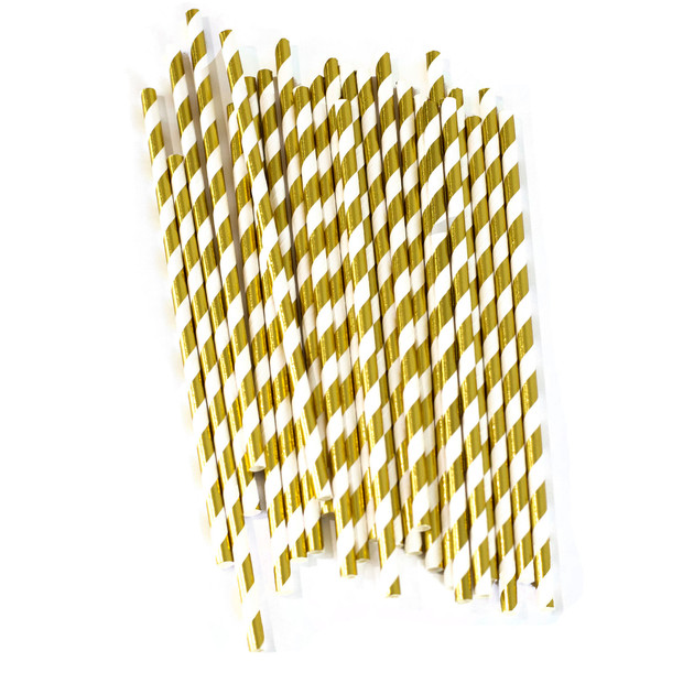 gold stripe straw