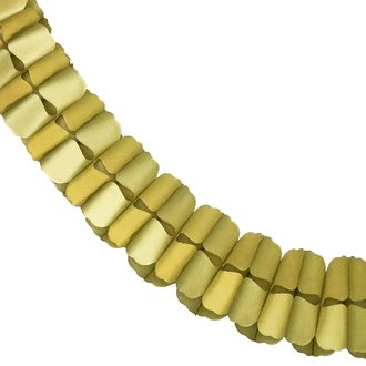 Gold Expanding Tissue Garland