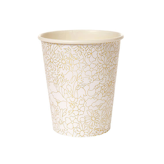 gold foil flower cups