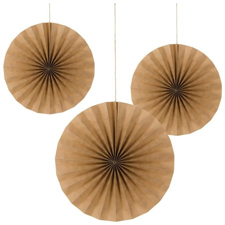 Kraft Paper Party Fan Pack