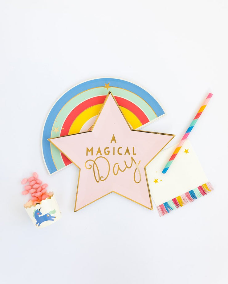 Magical Stars and Fringe Cocktail Napkin