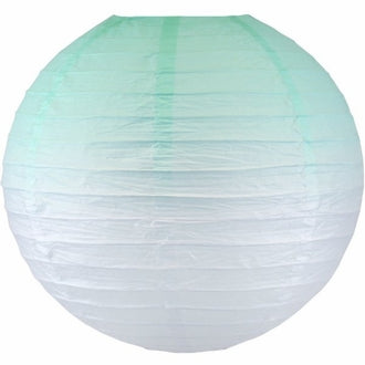 Mermaid Mint Ombre Paper Lantern
