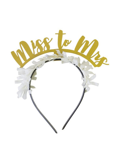 """Miss to Mrs."" Party Headband"