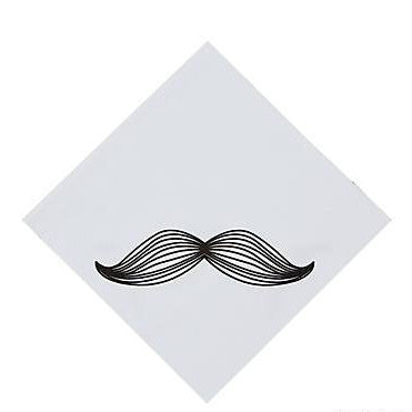 Mustache Man Party Luncheon Napkins
