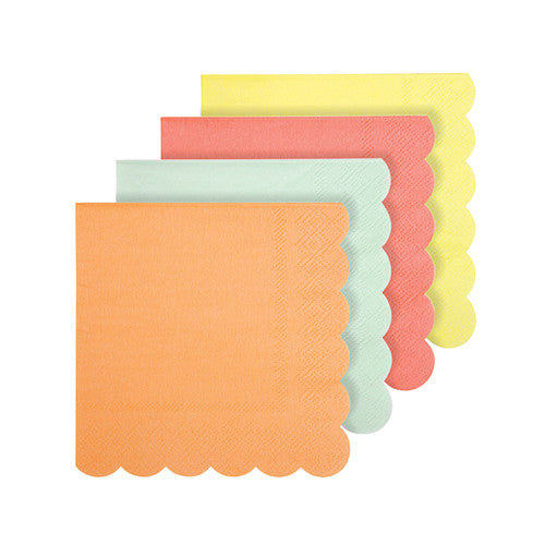 neon cocktail napkins