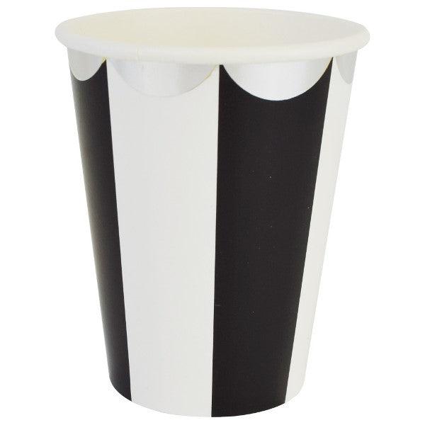 Black and White Scalloped Paper Cups