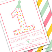 pink girls birthday party invitation