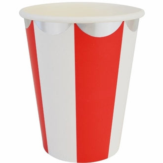 Red and Silver Scalloped Paper Cups