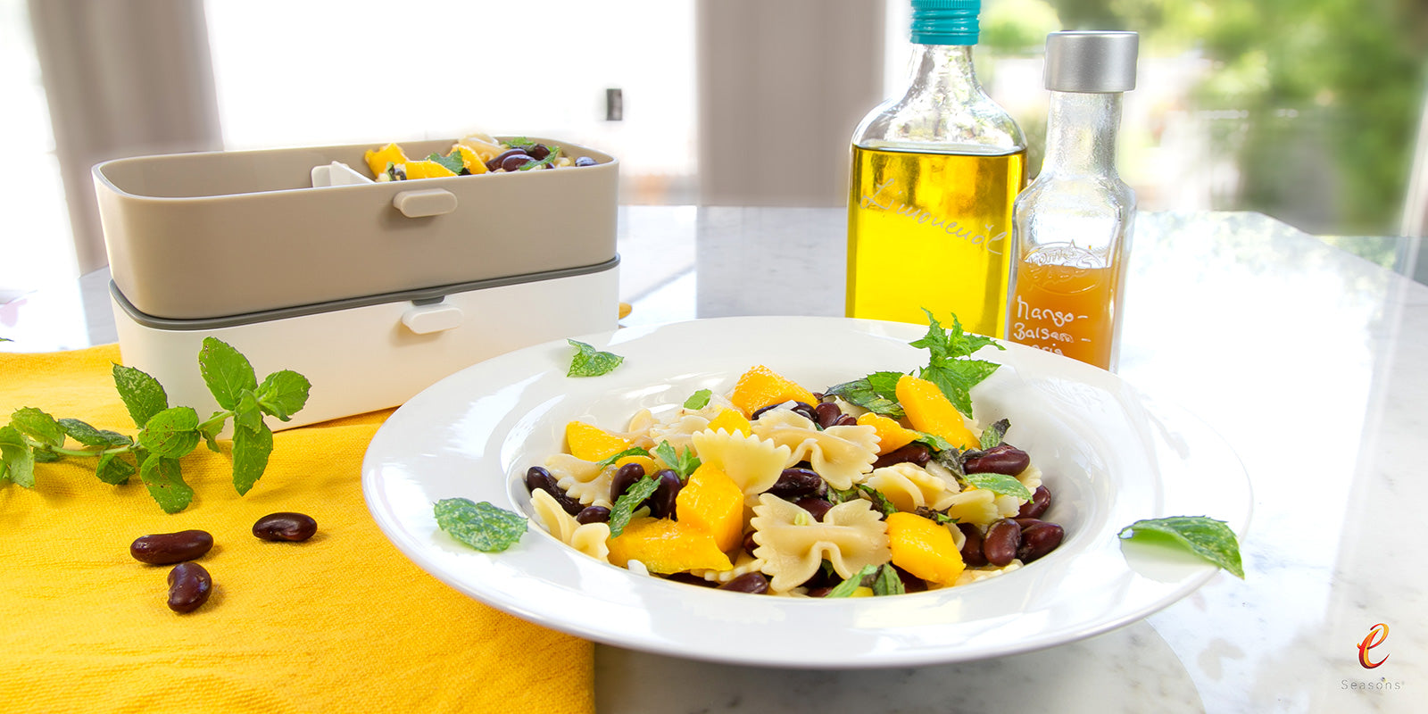 Red Bean, Mango & Mint Salad
