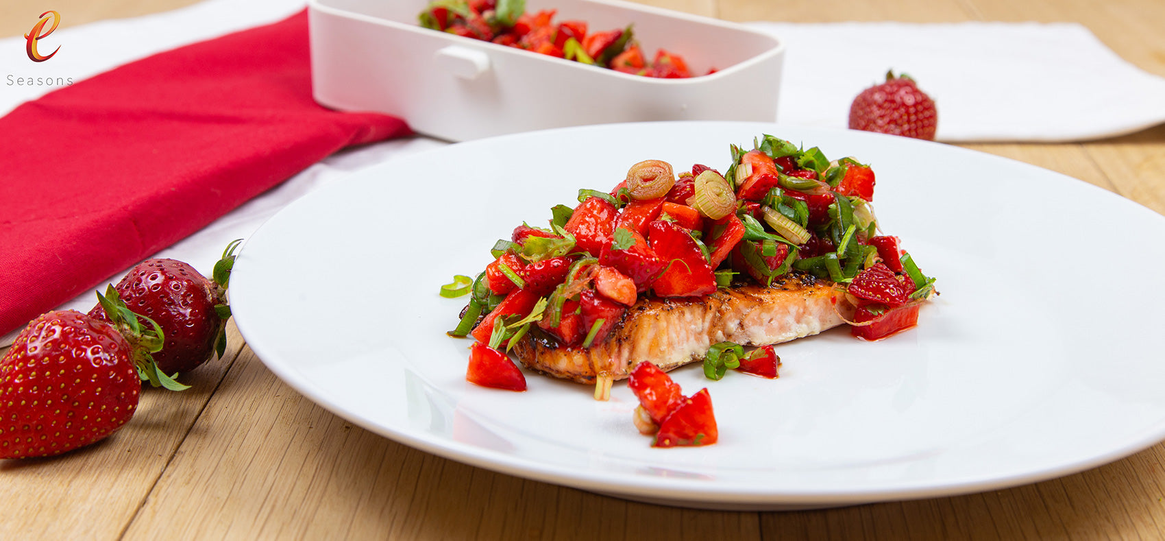 Salmon & Balsamic Strawberry
