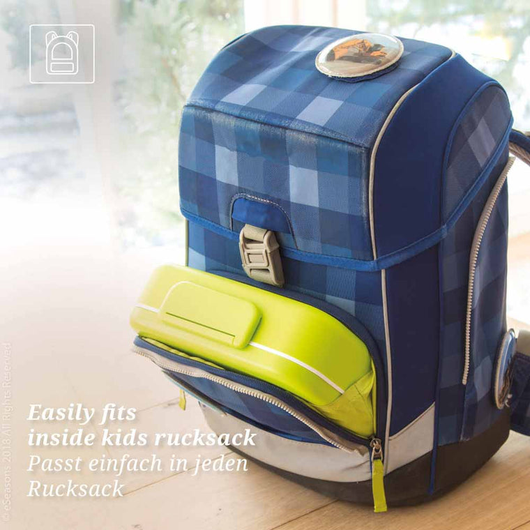 eSeasons Bento 5 Compartment Lunchbox Green: Easily fits inside a rucksack