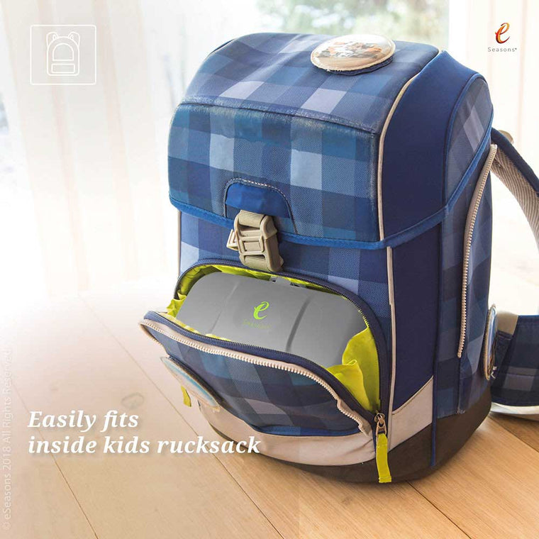 eSeasons Bento 2 tier Lunchbox Dark Grey: Easily fits inside a rucksack