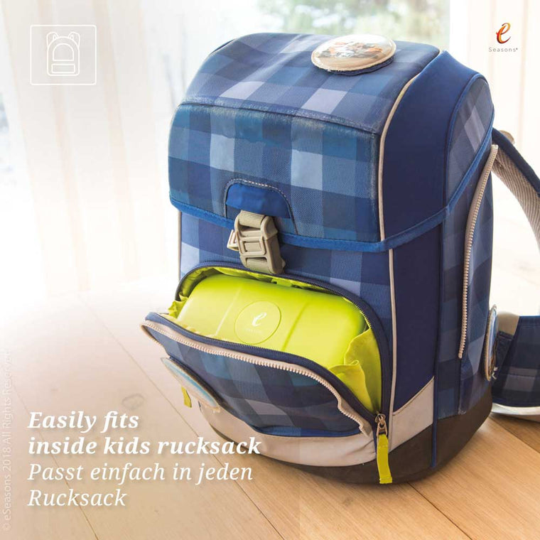 eSeasons Bento 2 tier Lunchbox green: Easily fits inside a rucksack