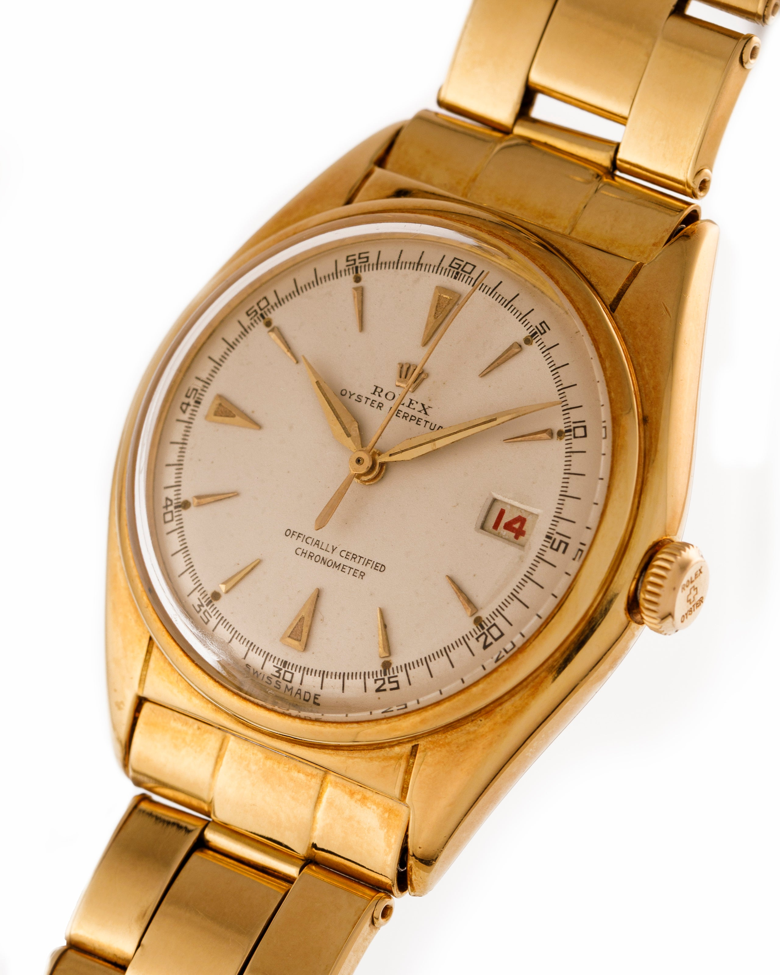 Rolex Date just ref.5030 yellow gold 1950