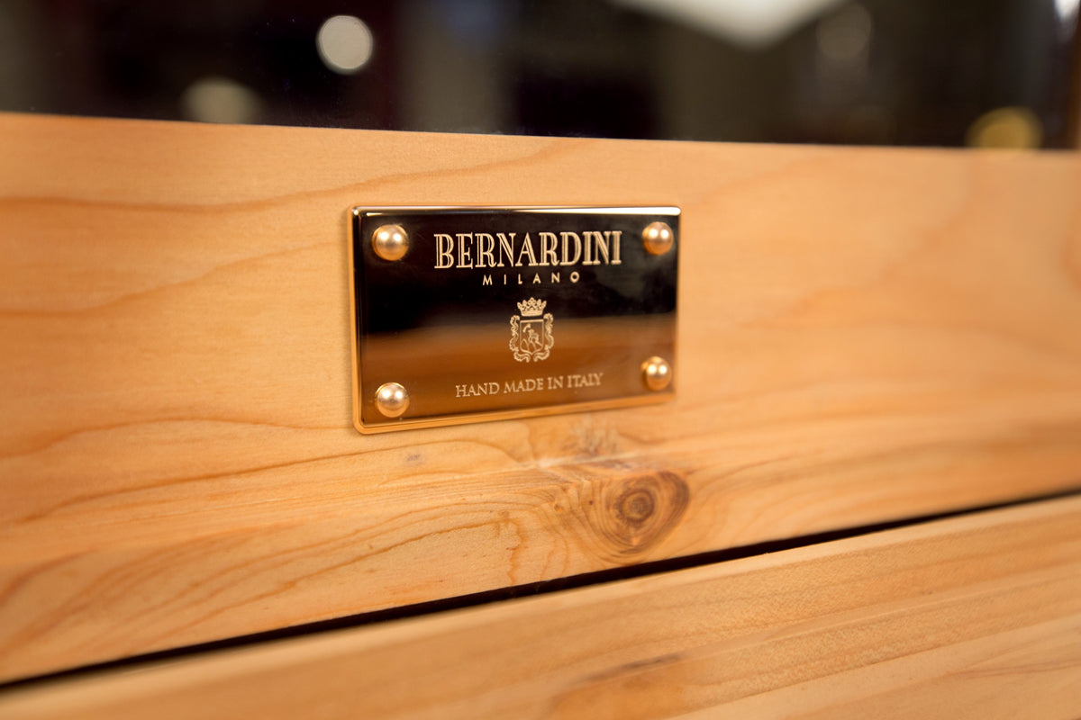 Bernardini Humidor Deco - Brown leather and Walnut - N° 04/30