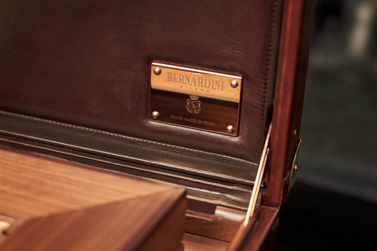 Bernardini Humidor Briefcase - French Lily and Walnut - N° 05/30