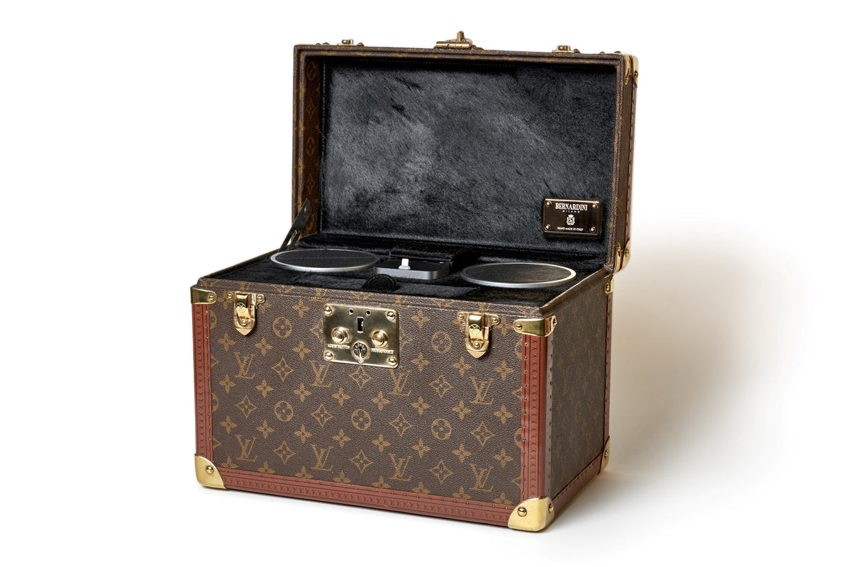 A singular Bernardini Music Player in a vintage Louis Vuitton 1970's Boîte à pharmacie