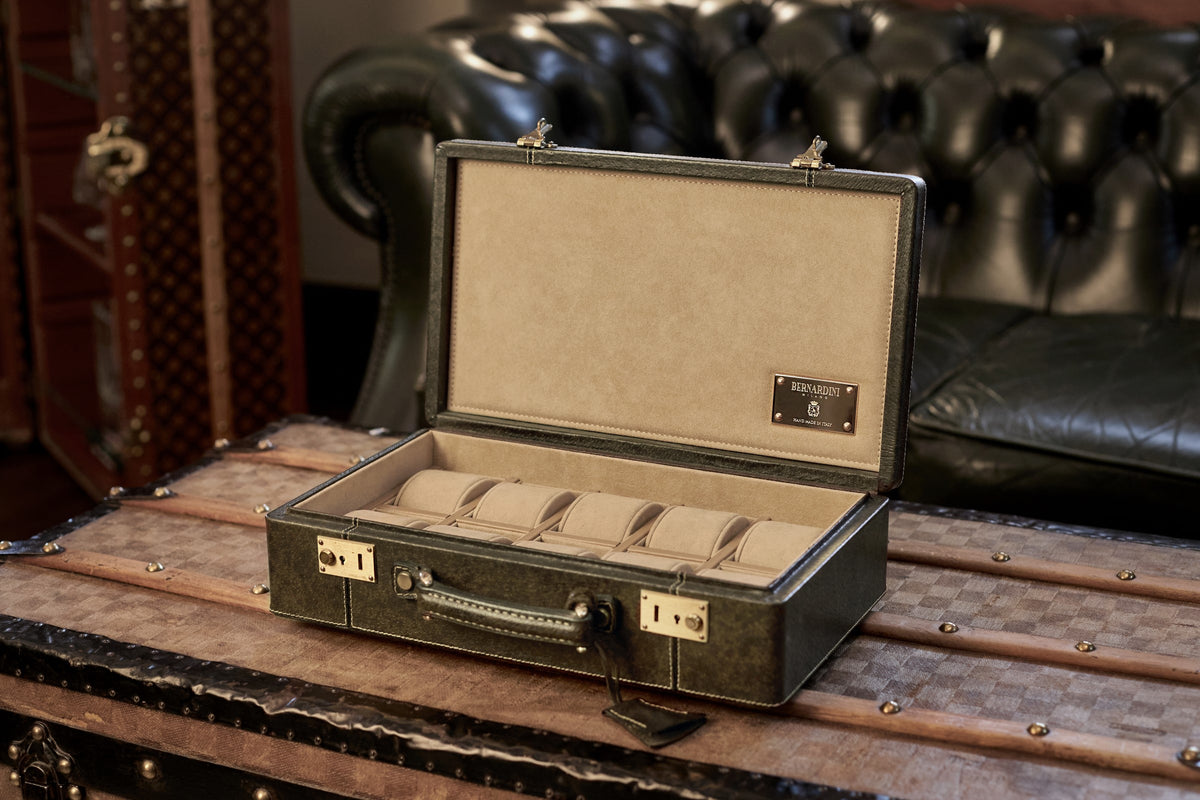 Watch Holder handmade in Italy - Gucci suitcase