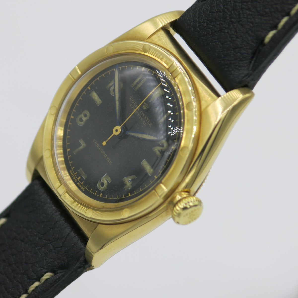 "Rolex Oyster Peretual ""Bubbleback"" in yellow gold"