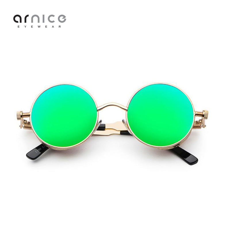 Arnice Retro Steampunk Round Sunglasses