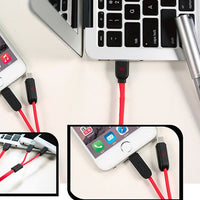WK 2 IN 1 USB DATA CABLE FOR IPHONE & ANDROID PHONE (DC.001-2)