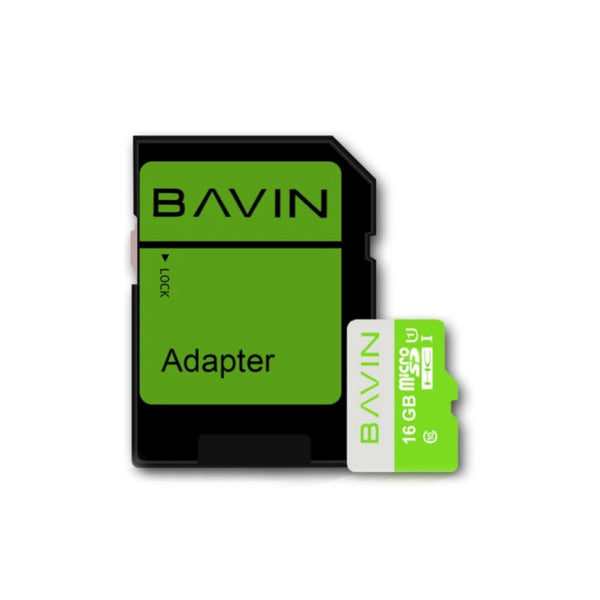 Bavin Micro SDHC Card Class 10 16GB with Adapter