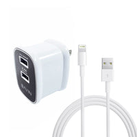Bavin Dual USB Slot 2.4A Quick Charger Travel Adapter for  IOs
