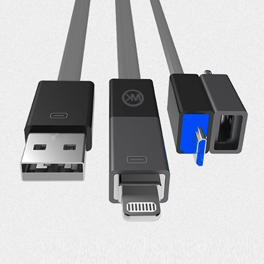 WK Phantom 2in1 USB Cable for iPhone & Android WDC-005