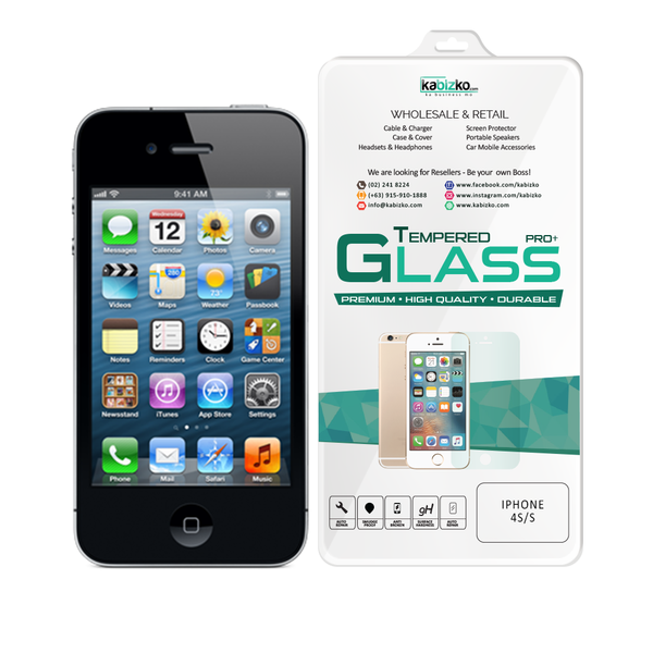 Kabizko iPhone 4/4S Tempered Glass Screen Protector