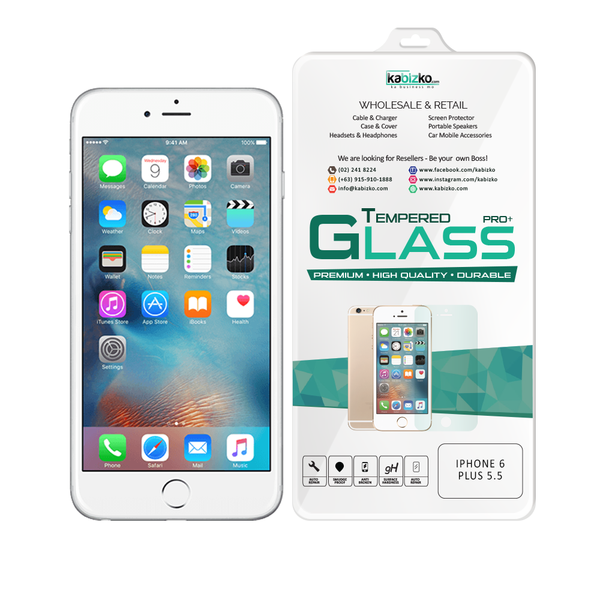 Kabizko iPhone 6 Plus / 6S Plus Tempered Glass Screen Protector