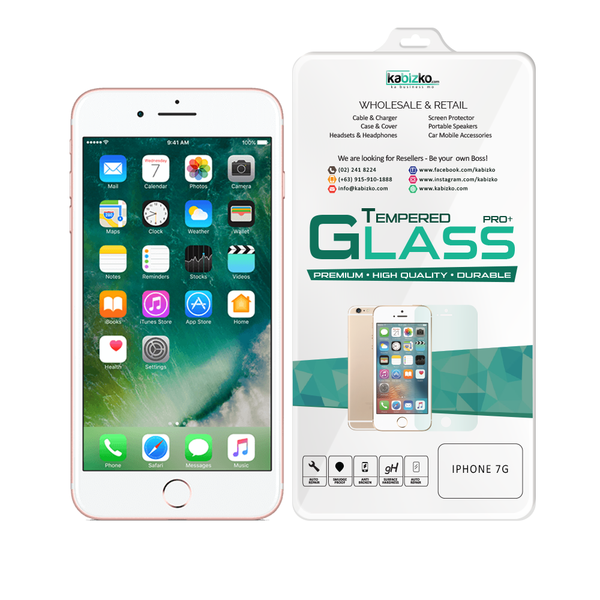Kabizko iPhone 7G Tempered Glass Screen Protector