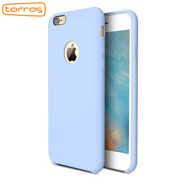 Torras  Liquid Silicone Rubber Case for iPhone 6 Plus with free Tempered Glass