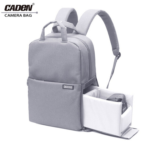 CADEN L5 DSLR Camera Backpack for Canon & Nikon (Light Grey)