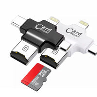 4 in1 TF Card Reader for IOS iPhone Android For Samsung