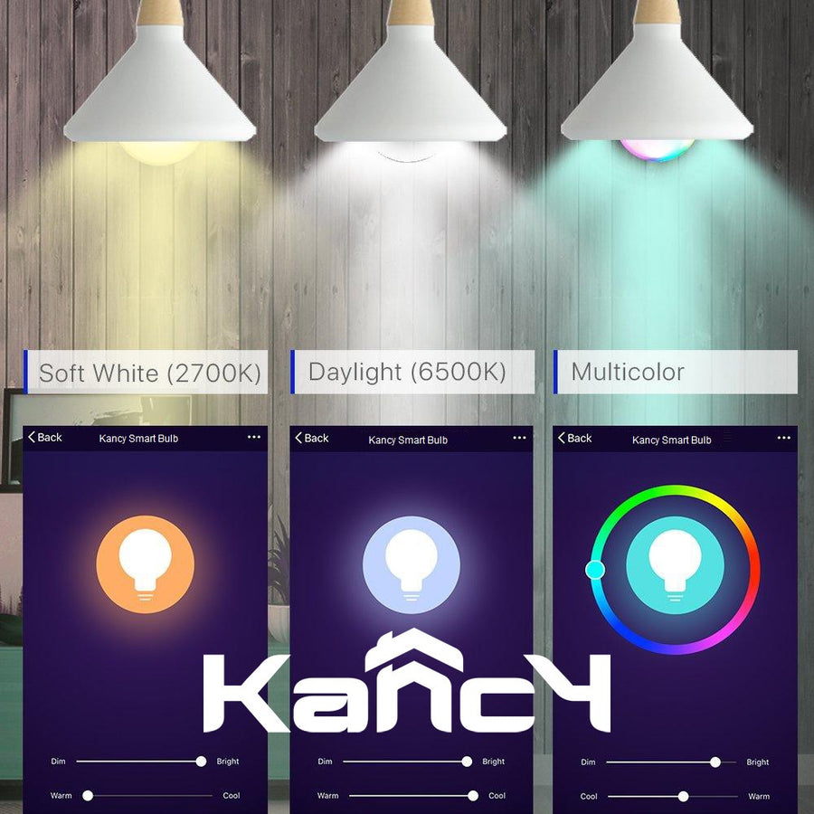 WiFi Smart Light Bulb LED Lamp 10W Cool Warm White Powered by Kancy