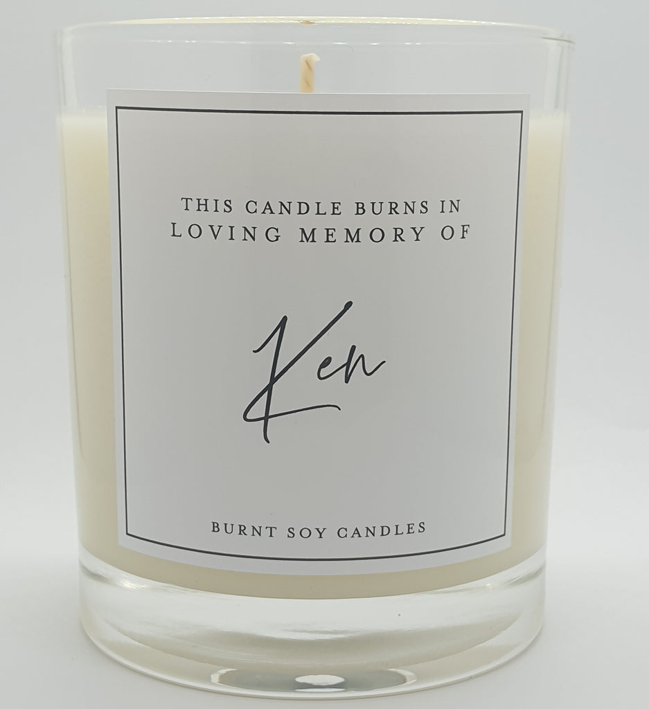Memory candle- Personalised