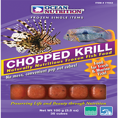 Ocean Nutrition Chopped Krill 100g - Marine World Aquatics