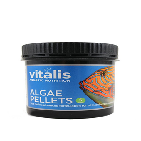Vitalis Algae Pellets 60g Small 1.5mm - Marine World Aquatics