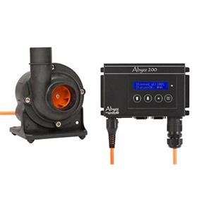 Abyzz Flow Pumps - A200 PUMP/CONTROLLER WITH 10M CABLE - Marine World Aquatics